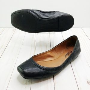 Lucky Brand | Leather Santana Square Toe Flats
